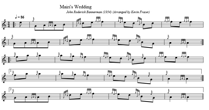 Mairi's Wedding Elementary Setting